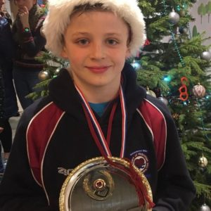 Josh - new 11 & under 25m breaststroke recordholder
